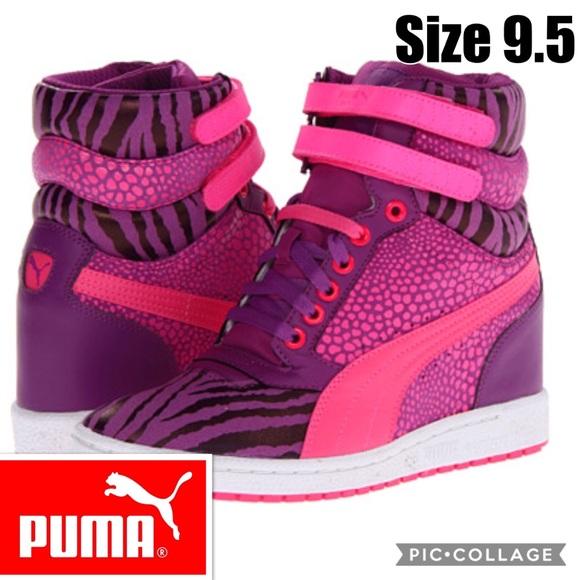 Puma Sky Wedge Reptile High Top Sneakers Size 9.5.  M 5a67a2bb6bf5a6f40e6a0094 0e94f8924